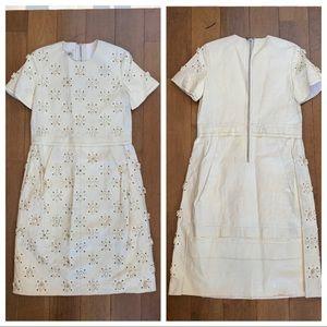 Louis Vuitton RTW Leather Dress Studs & Flowers